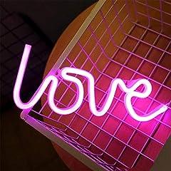 Idea Regalo - ENUOLI Pink Love forma Night Lights Led Neon Signs USB o pile della Night Lights Lampade Art decorazione della parete della tabella luci al neon Signs decorativi per il partito domestico Camera da le