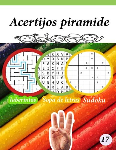 Acertijos piramide: juegos de letras -Sudoku -laberintos educativos