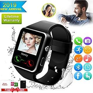Reloj inteligente, reloj inteligente para teléfonos Android, reloj inteligente con pantalla táctil con cámara, reloj Bluetooth con ranura para tarjeta SIM, teléfono móvil, compatible con Android, Samsung, iOS, teléfono, XS, X8, 7, 6, 5, hombres y mujeres