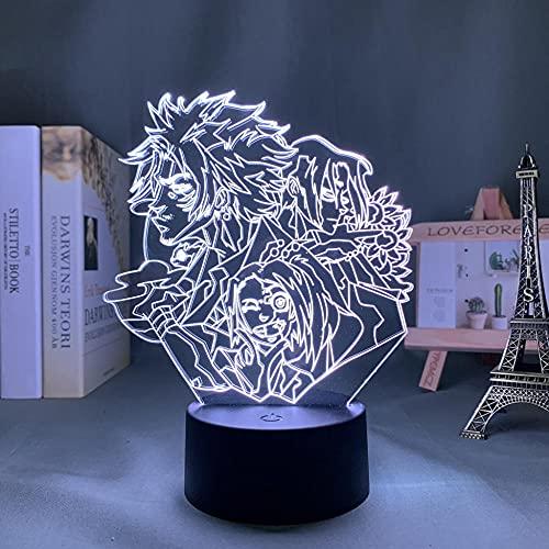 Anime Light Amurai Champloo - Luz nocturna LED para niños, dormitorio, decoración, regalo de cumpleaños, habitación, lámpara de mesa, amapola, control táctil