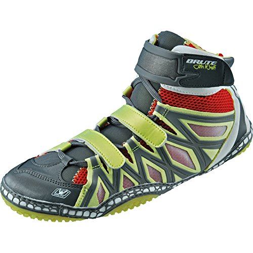 Brute JS25 Sun/Red/Silver Wrestling Shoes - 9
