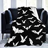 Bats Halloween Goth Fleece Flannel Blanket Throw Warm Lightweight Blankets for Home Office All Season 50'X40'