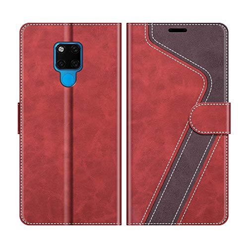 MOBESV Handyhülle für Huawei Mate 20 X Hülle Leder, Huawei Mate20 X Klapphülle Handytasche Hülle für Huawei Mate 20 X 5G / Huawei Mate20 X Handy Hüllen, Modisch Rot