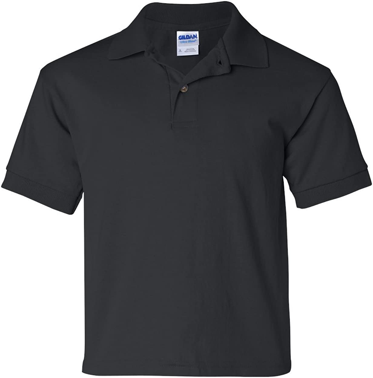 6 oz, 50/50 Jersey Polo (G880B) Black, L (Pack of 12)