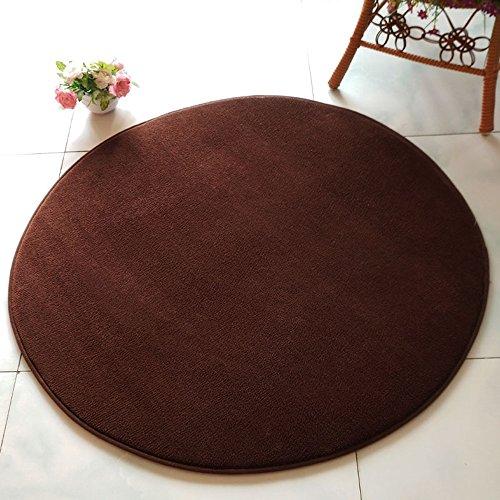 Schlafzimmer Teppich, runde einfache und solide Farbe hängen Korb Hebebühne Teppich, Nachttischdecke, Wohnzimmer Kaffee Matten Matten ( Farbe : Braun , größe : 140cm )