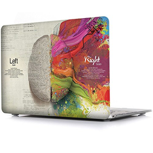 iCasso Rubber Coated Hard Case fur das altere MacBook Air 13 Modelle A1369A1466 Release 2010 2017 linke und rechte Gehirnhalfte