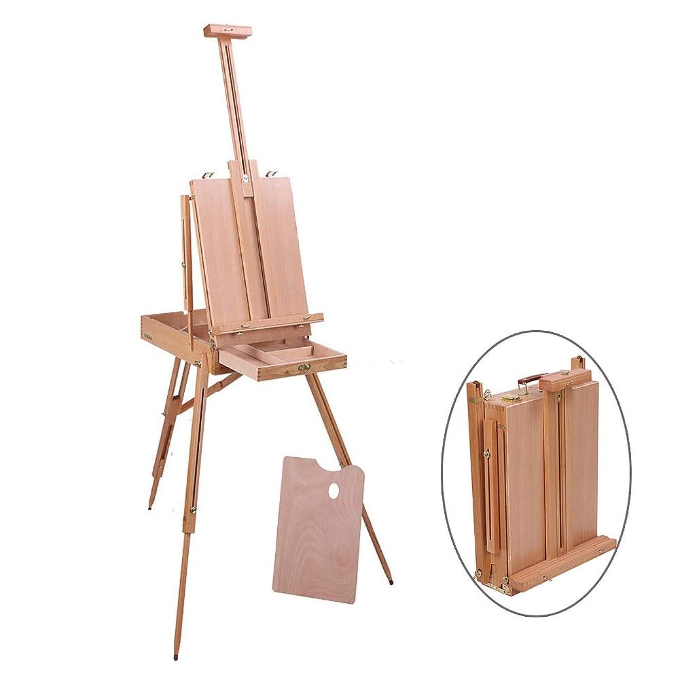大脳ブロンズクラウドアーティスト イーゼル 木製 三脚スタンド 表示 保有者 調整可能 ペインティング 図 スケッチボックス ポータブル 折り畳み アーティスト 画家 フィールド スタジオ