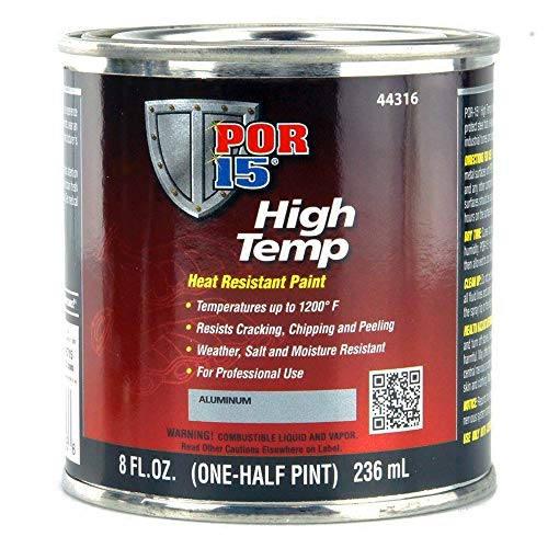 POR-15 44316 Aluminum High Temp Paint - 8 fl. oz.