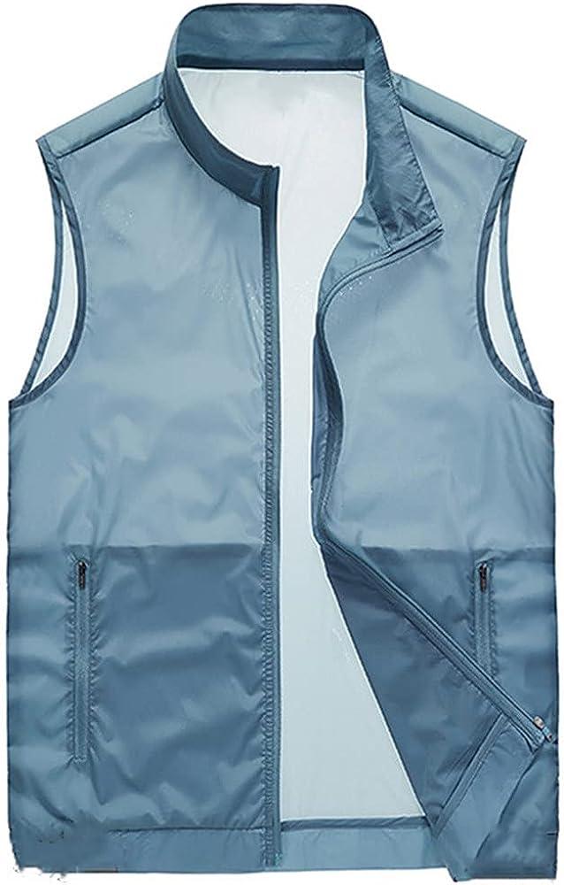 Mens Waistcoats Men's Summer Sleeveless Ultra-thin Waistcoat Vest