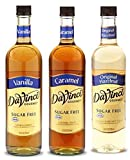 Da Vinci Sugar Free Syrup Variety 3 Pack of Vanilla, Caramel and Original Hazelnut 750mL each (25.4 FL Oz)
