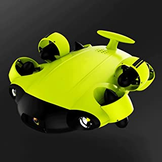WANGCH Underwater Drone with 4K 166-degree Ultra-Wide-Angle HD Camera and LED Fill Light/100m Remote Control Submarine Mon...