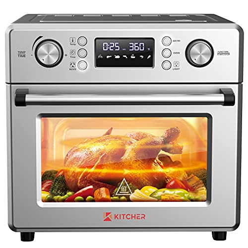 KITCHER 26.5QT Air Fryer Oven, Countertop Toaster Oven 6 Slice...
