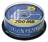 Platinum CD R 700MB 52x, 25er Cakebox 102565...