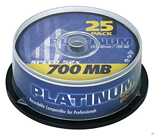 Platinum CD-R 700MB 52x, 25er Cakebox 102565