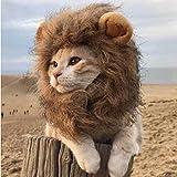 DBMART オシャレなペット用帽子 可愛いライオンコスプレキャップ 凛々しいライオンに大変身 ライオンのたてがみ(耳付き) ペット 着ぐるみ 着脱簡単 マジックテープ付き (L)
