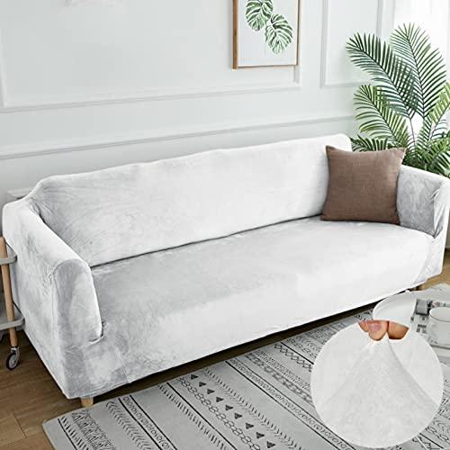 Funda De Sofá Gruesa De Terciopelo, Fundas De Sofá Elásticas Modernas De Color Sólido para Muebles, Fundas De Sofá Elásticas con Todo Incluido para Sala De Estar