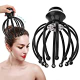 Electric Vibration Head Massager,Scalp Massager,Head Scratcher with 2 Vibration Modes and Auto-Off Function,Hands-Free USB Rechargeable for Relaxation and Blood Circulation