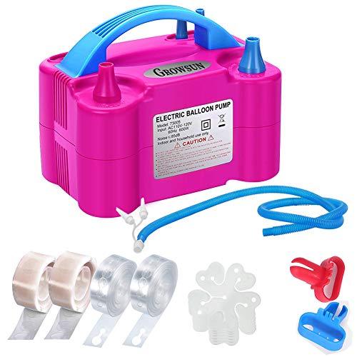 Growsun Ballonpumpen-Kit Elektrische Ballon-Luftpumpe Gebläse Inflator für Party mit extra Zubehör
