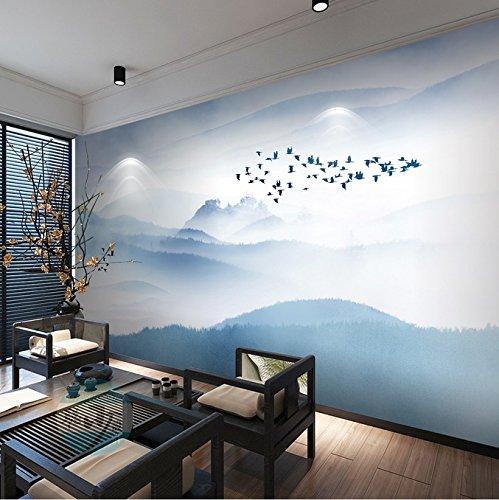HUANG YA HUI Peintures murales Papier Peint Décoration Murale De Mur À L'Arrière-Plan Attire L'Encre Chevet Nouveau Montagnes Montagne Plat Peinture Murale En Arrière-Plan