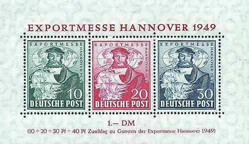 Goldhahn Alliierte Besetzung Block 1c postfrisch Exportmesse geprüft+signiert Briefmarken für Sammler