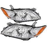 Carpartsinnovate For 07-09 Camry CE LE SE Base Sedan Clear Projector Headlights Headlamps Left+Right