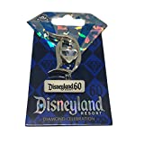 Disneyland 60th Diamond Anniversary Diamond in center D Disney Trading Pin