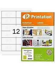 1200 Étiquettes autocollantes sur feuilles a4–support 97 x 42,3 mm (blanc)