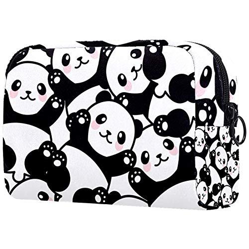 ATOMO Makeup Bag, Fashion Cosmetic Travel Bag Large Toiletry Bag Makeup Organizer for Women, Cute Chinese Panda Baby Pattern