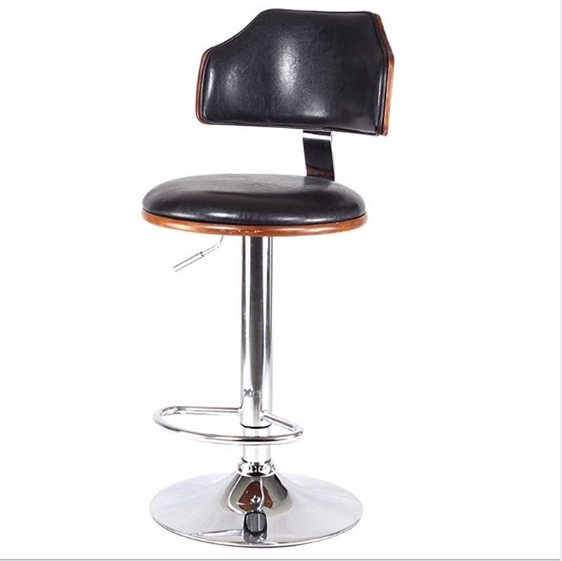 AO Stools Bar Chair Bar Stool Stylish American Solid Wood Bar Chair Lift 60x40x17cm