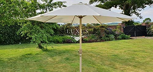 Luxus Home And Garden - Sombrilla con manivela de 48 mm (3 m)
