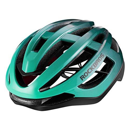 ROCKBROS Rennradhelm Fahrradhelm Integrierter Unisex Erwachsenen für Herren Damen für Mountain Bike Rennrad Gradient 3 Farben M (54-59cm)/L(58-63cm)