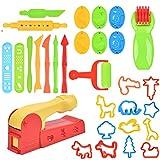 Kit Arcilla Herramientas TIMESETL 30 Piezas de Herramientas de Plastilina de Colores, Moldes de Plástico para Masa de Arcilla para Niños, Color Aleatorio, Grandes Regalos para Niños