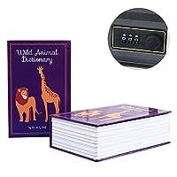 Sundlight Book Safe with 3デジタル組み合わせロック非表示Diversion金庫Large通貨のストレージ、パスポート、ジュエリー、Pistols and Other Stuffs、5.5X 11.5CM x 18cm パープル Sundlight-123