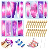 Hvinie Hair Clip Resin Mold 3 Pcs, Hairpin Jewelry Silicone Casting Molds with 20 Pcs Gold...