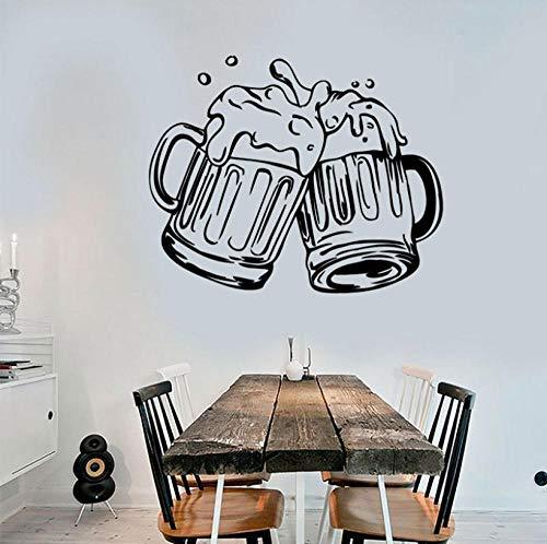 Adesivi Murali Stickers Murali Tazze Di Birra Pub Adesivi Per Alcolici Adesivo In Vinile Adesivo Rimovibile Murale Decorazione Moderna Carta Da Parati 52X42Cm