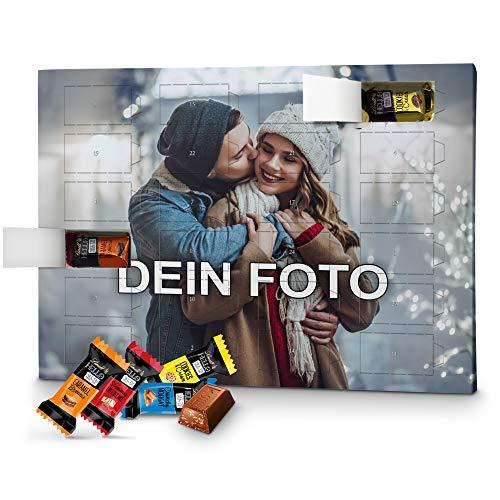 PhotoFancy – Foto Adventskalender mit hochwertiger Lindt HELLO-Füllung in 4 Sorten – mit eigenem Bild bedruckt