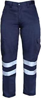 """High Visibility Hi Vis Safety Work Pant/Trouser (W30"""" x L32"""", Navy Blue)"""