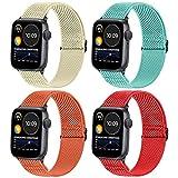 WNIPH Correa trenzada Solo Loop compatible con Apple Watch 38 mm 40mm 42mm 44mm,Reloj Ajustable de Repuesto Deporte Strap,Pulsera Nylon Banda series 6/SE/5/4/3/2/1