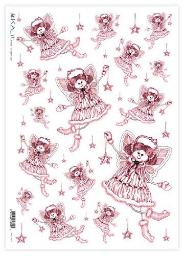 Accademia del Decoupage 32 x 45 cm Angelo carta di riso rosa