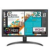 【Amazon.co.jp 限定】LG フレームレス モニター ディスプレイ 24QP500-B 23.8インチ/WQHD(2560×1440)/IPS非光沢/HDR/FreeSync/75Hz/HDMI×2,DP