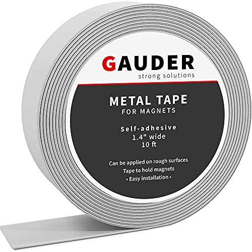 GAUDER Metallband selbstklebend I Ferroband I Magnetband I Eisenband I Stahlband (3m)
