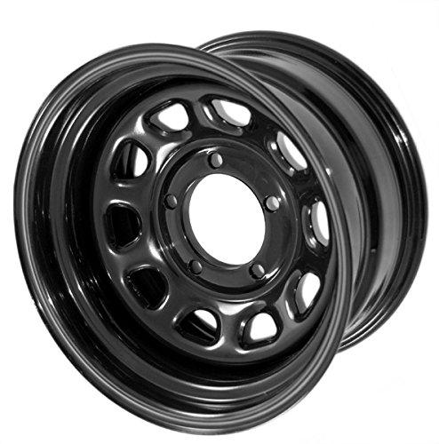 Rugged Ridge 15500.01 D Window Wheel, 15x8, Black, 5x4.5 Bolt Pattern