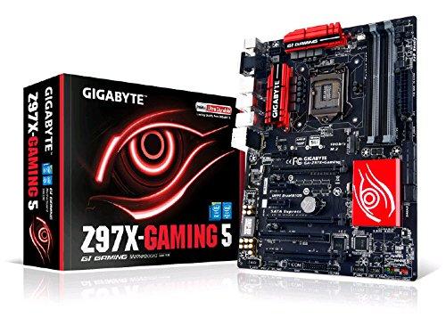 Gigabyte GA-Z97X-GAMING 5 LGA 1150 Z97 115dB SNR HD Audio with Built-In Rear Audio...