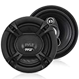"3-Way Universal Car Stereo Speakers - 240W 5.25"" Triaxial Loud Pro Audio Car Speaker Universal OEM Quick Replacement Component Speaker Vehicle Door/Side Panel Mount Compatible - Pyle PL513BK (Pair)"