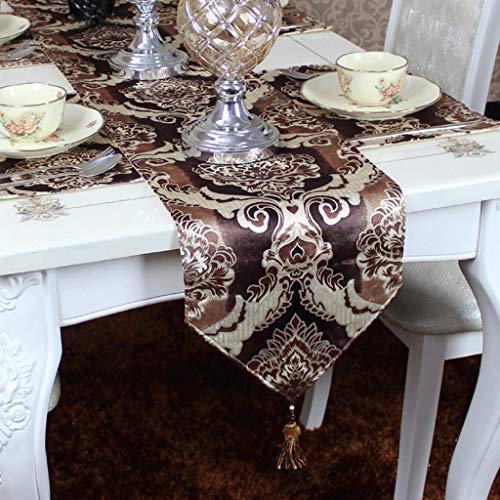 YXN Tafelvlag in Europese stijl, stijlvolle jacquard hangkralen, decoratieve tafelvlag, geschikt voor eettafel, koffietafel, tv-kast, bed