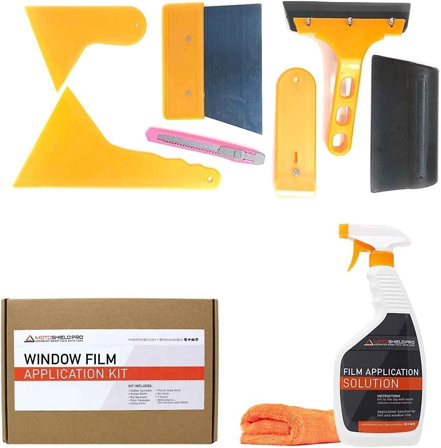 MotoShield Pro 9-Piece Window-Film Super sale period limited Car Ranking TOP1 Application Kit Cle Tint