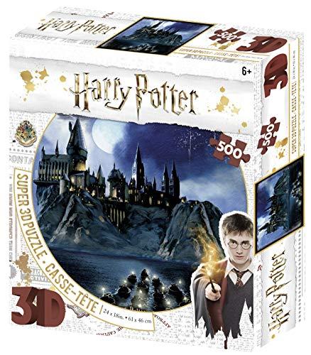 Prime 3D Redstring-Puzzle lenticolare Harry Potter Hogwarts 500 pezzi (effetto 3D)