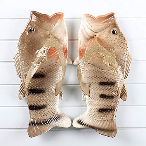 SGZBY Chanclas Chanclas Creativas En Forma De Pez Zapatos De Verano Antideslizantes para Padres E Hijos Playa Zapatos Casuales Zapatillas De Pescado
