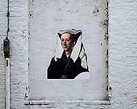 絵画キャンバスアクリルペイントストリートアート壁落書きレンガ現代アートDiyデジタル絵画数字で現代壁アートクリスマスホリデーギフト家の装飾 カスタマイズ可能 50x65cmフレームなし