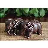 Homyl Asiatische Glückliche Glückselefanten Holzelefant Elefant Figur Holzfigur Tischdeko Geschenk - 9